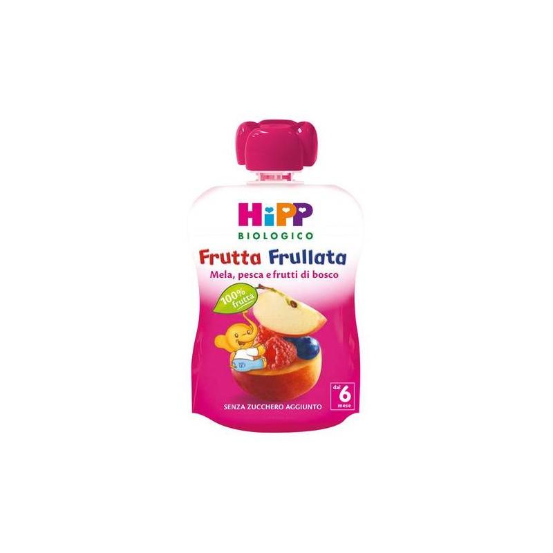 HIPP BIO FRUTTA FRULLATA MELA/PESCA/F.ROSSI 90g
