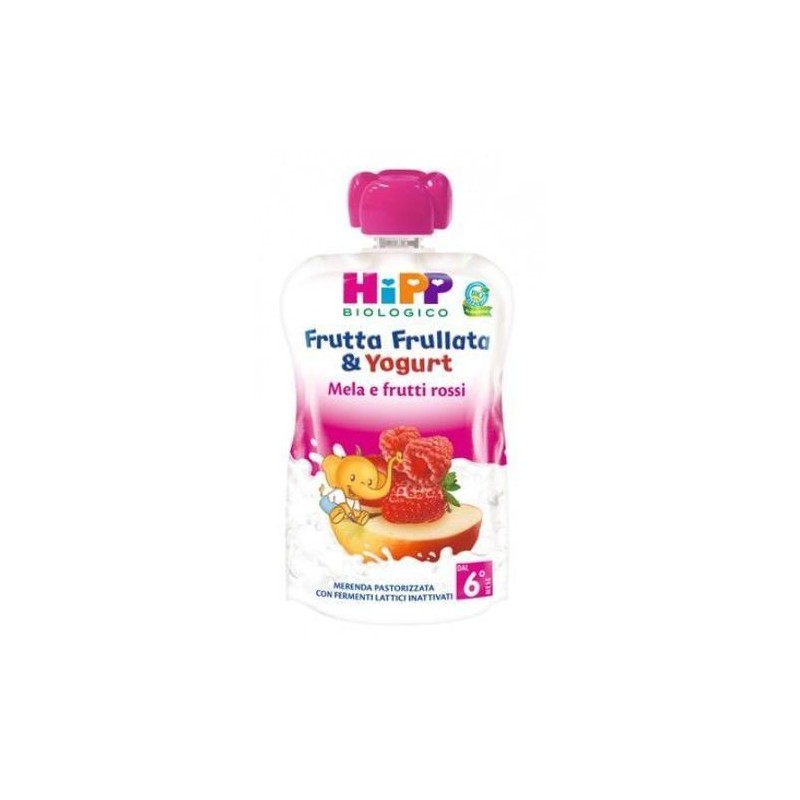 HIPP FRUTTA FRULLATA MELA/FRUTTI ROSSI/YOGURT 90g