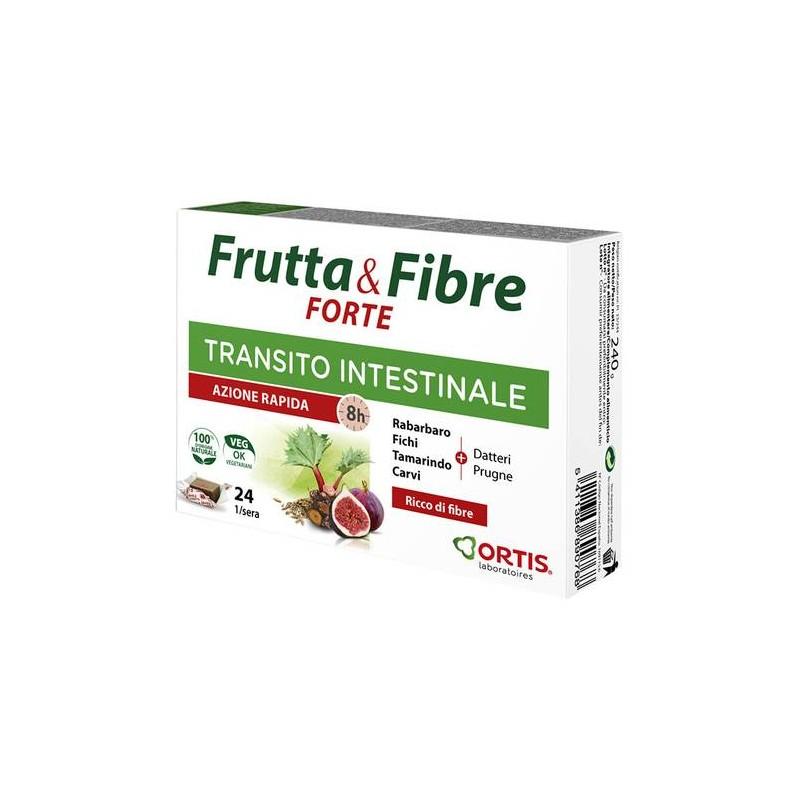 FRUTTA & FIBRE FORTE INTEGRATORE TRANSITO INTESTINALE 24 CUBETTI