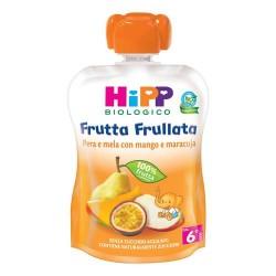 HIPP BIO FRUTTA FRULLATA PERA E MELA CON MANGO E MARACUJA 90g