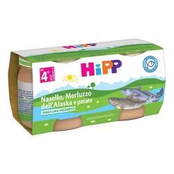 HIPP OMOGENEIZZATO NASELLO MERLUZZO E PATATE 2X80g