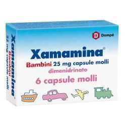 XAMAMINA BAMBINI 25mg ANTIEMETICO 6 CAPSULE