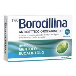 NEOBOROCILLINA ANTISETTICO OROFARINGEO 16 PASTIGLIE MENTOLO EUCALIPTO