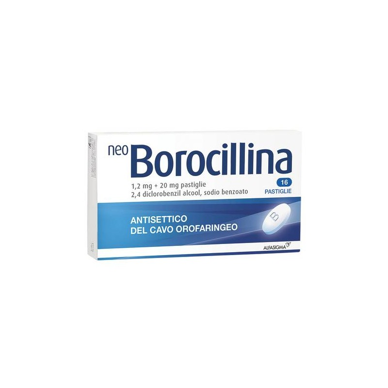 NEOBOROCILLINA ANTISETTICO OROFARINGEO 16 PASTIGLIE 1,2+20MG