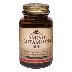 SOLGAR AMINO GLUTAMMINA 500 INTEGRATORE 50 CAPSULE VEGANE