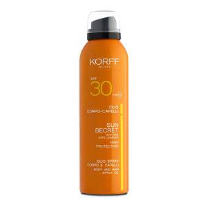 KORFF SUN SECRET OLIO SPRAY CORPO E CAPELLI SPF30 200ml