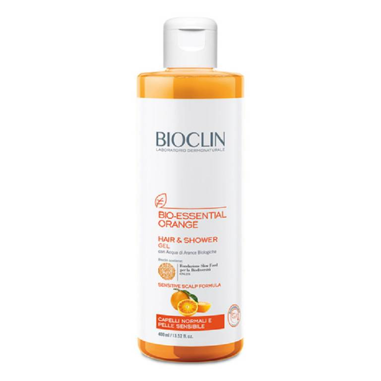 BIOCLIN BIO ESSENTIAL ORANGE GEL DETERGENTE CORPO E CAPELLI 400ml