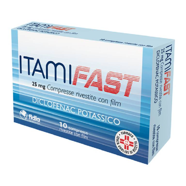 ITAMIFAST 10 COMPRESSE RIVESTITE CON FILM 25 mg