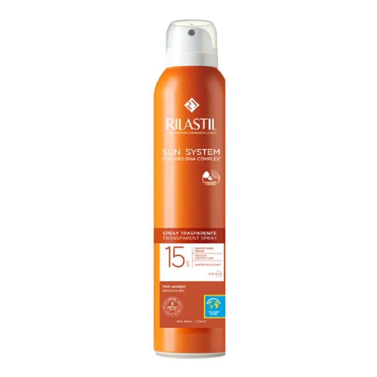 RILASTIL SUN SYSTEM TRANSPARENT SPRAY SPF15 200 ml